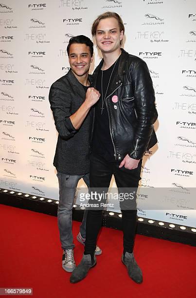 Kostja Ullmann and Wilson Gonzalez Ochsenknecht attend the Jaguar FType short film 'The Key' Premiere at eWerk on April 13 2013 in Berlin Germany