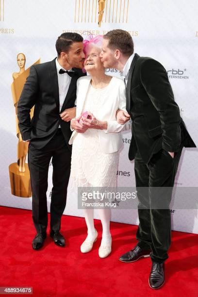 Kostja Ullmann Johanna Penski and Marco Kreuzpaintner attend the Lola German Film Award 2014 at Tempodrom on May 09 2014 in Berlin Germany
