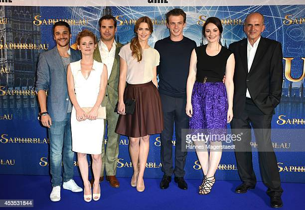Kostja Ullmann Josefine Preuss Johannes von Mattuschka Laura Berlin Jannis Niewoehner Maria Ehrich and guest attend the Munich premiere of the film...