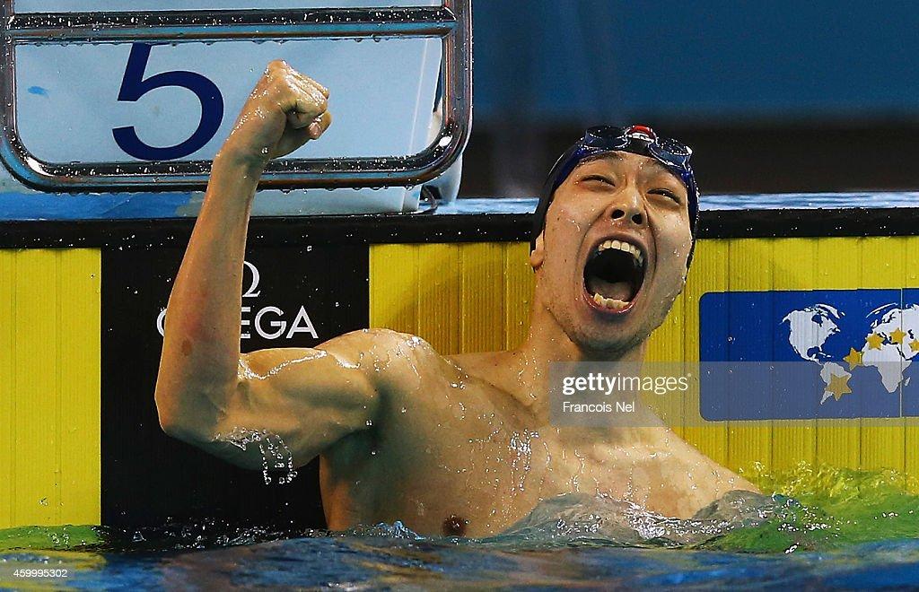 12th FINA World Swimming Championships (25m) - Day Three : News Photo