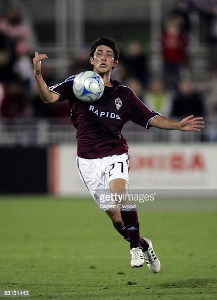 Kosuke Kimura of the Colorado Rapids controls the ball against the Houston Dynamo on October 4, 2008 at Dicks Sporting Goods Park in Commerce City,...