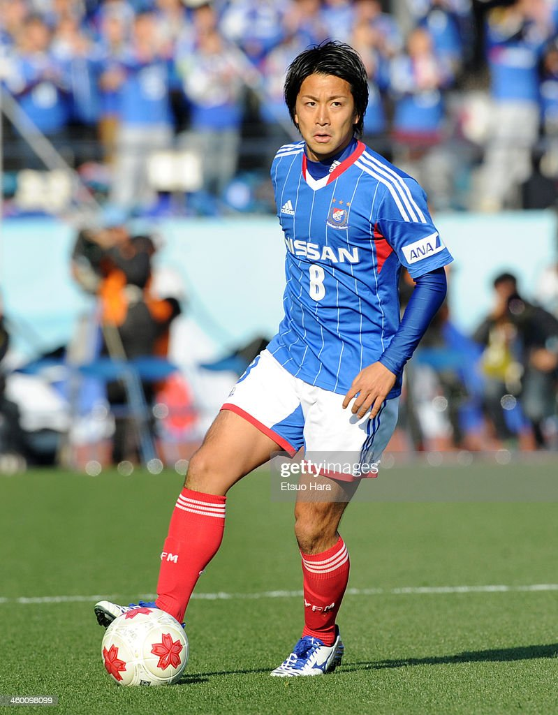 Kosuke Nakamachi of Yokohama F.Marinos in action during the 93rd Emperor's Cup final between Yokohama F.Marinos and Sanfrecce Hiroshima at the National Stadium on January 1, 2014 in Tokyo, Japan.