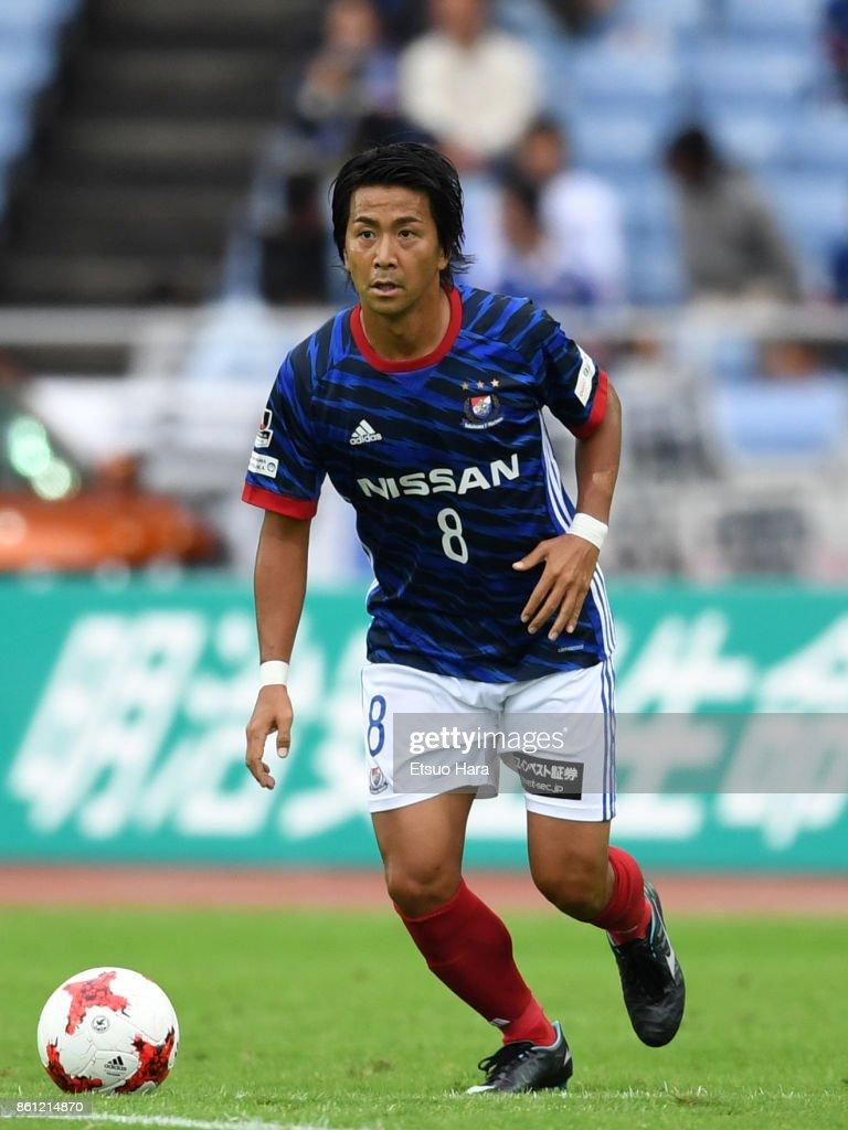 Kosuke Nakamachi of Yokohama F.Marinos in action during the J.League J1 match between Yokohama F.Marinos and Omiya Ardija at Nissan Stadium on October 14, 2017 in Yokohama, Kanagawa, Japan.
