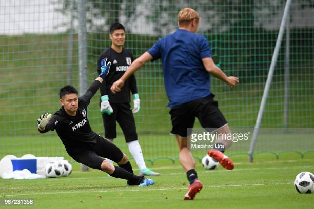 Kosuke Nakamura in action during a training session on June 4 2018 in Seefeld Austria