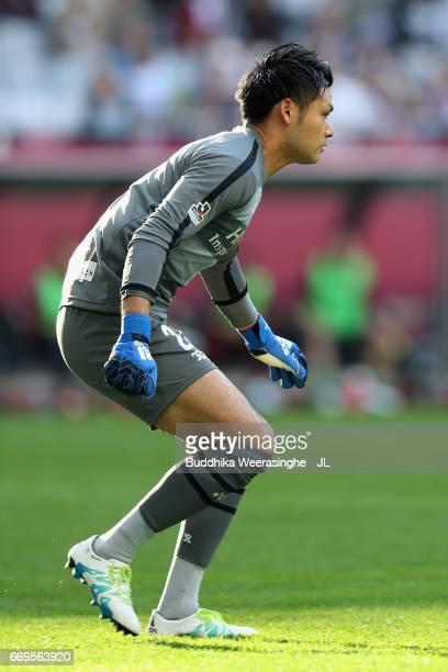 Kosuke Nakamura in action during the JLeague J1 match between Vissel Kobe and Kashiwa Reysol at Noevir Stadium Kobe on April 16 2017 in Kobe Hyogo...