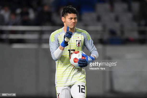 Kosuke Nakamura of Japan gestures during the EAFF E1 Men's Football Championship between Japan and North Korea at Ajinomoto Stadium on December 9...