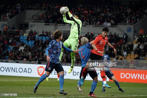 Kosuke Nakamura of Japan in action during the EAFF E-1 Football Championship match between South Korea and Japan at Busan Asiad Main Stadium on...