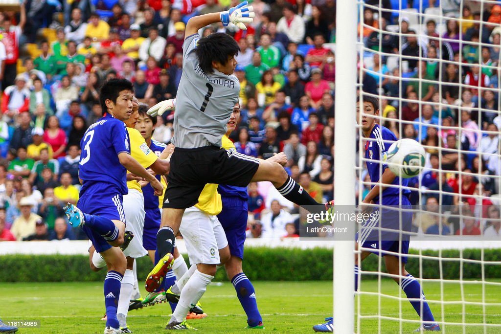 Kosuke Nakamura of Japan in action during the FIFA U-17 World Cup Mexico 2011 Round of 16 match between Japan and Brazil at the La Corregidora Stadium on July 3, 2011 in Queretaro, Mexico.