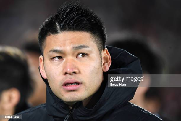 Kosuke Nakamura of japan looks on after the international friendly match between Japan and Colombia at Nissan Stadium on March 22 2019 in Yokohama...