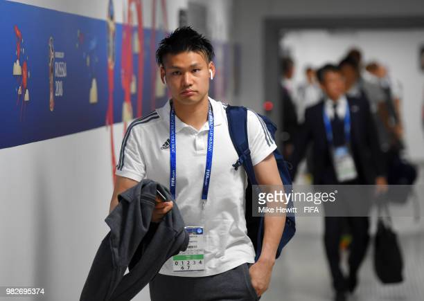 Kosuke Nakamura of Japan of Japan arrives at stadium prior to the 2018 FIFA World Cup Russia group H match between Japan and Senegal at Ekaterinburg...