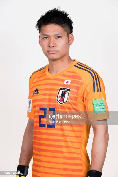 Kosuke Nakamura of Japan poses for a portrait during the official FIFA World Cup 2018 portrait session at the FC Rubin Training Grounds on June 14...