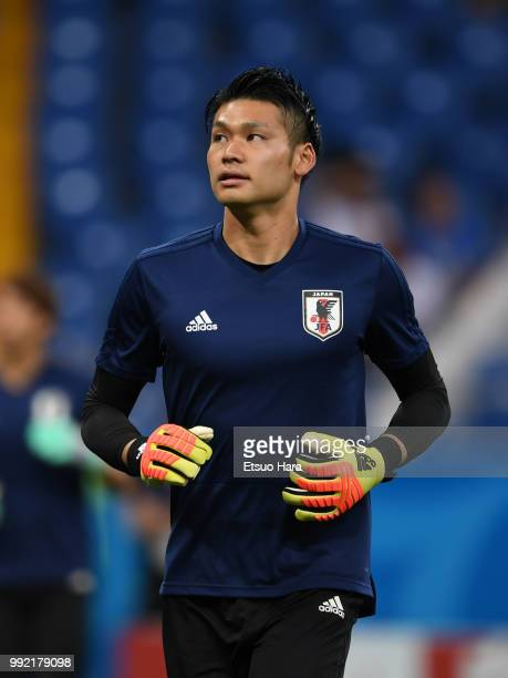 Kosuke Nakamura of Japan warms up prior to the 2018 FIFA World Cup Russia Round of 16 match between Belgium and Japan at Rostov Arena on July 2 2018...