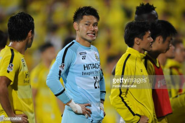 Kosuke Nakamura of Kashiwa Reysol gestures after the JLeague J1 match between Kashiwa Reysol and Kashima Antlers at Sankyo Frontier Kashiwa Stadium...