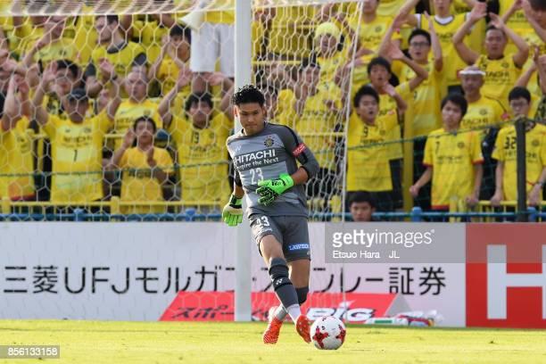 Kosuke Nakamura of Kashiwa Reysol in action during the JLeague J1 match between Kashiwa Reysol and Ventforet Kofu at Hitachi Kashiwa Soccer Stadium...
