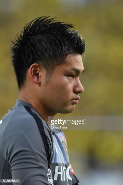 Kosuke Nakamura of Kashiwa Reysol looks on prior to the JLeague J1 match between Kashiwa Reysol and Kashima Antlers at Hitachi Kashiwa Soccer Stadium...