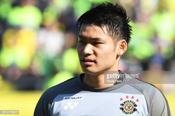 Kosuke Nakamura of Kashiwa Reysol looks on prior to the preseason friendly match between JEF United Chiba and Kashiwa Reysol at Fukuda Denshi Arena...