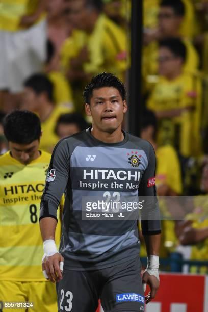 Kosuke Nakamura of Kashiwa Reysol shows dejection after his side's 0-1 defeat in the J.League J1 match between Kashiwa Reysol and Ventforet Kofu at...