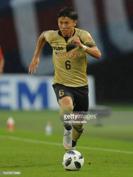 Kosuke Ota of FC Tokyo in action during the JLeague J1 match between FC Tokyo and Shimizu SPulse at Ajinomoto Stadium on September 29 2018 in Chofu...