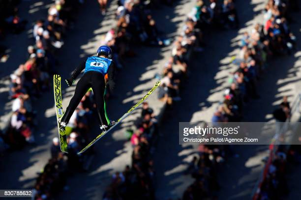 Kot Maciej of Poland takes 2nd place during the Men's HS 132 at the FIS Grand Prix Ski Jumping on August 12 2017 in Courchevel France