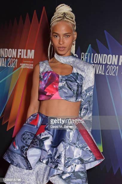 """Kota Eberhardt attends the UK Premiere of """"She Will"""" during the 65th BFI London Film Festival at the The Curzon Mayfair on October 16, 2021 in..."""