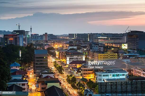 Kota Kinabalu at dusk, Sabah, Borneo, Malaysia