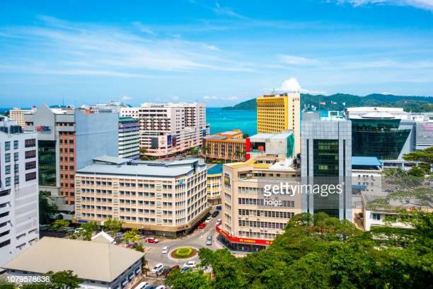 kota kinabalu city, malaysia - kota kinabalu stock pictures, royalty-free photos & images