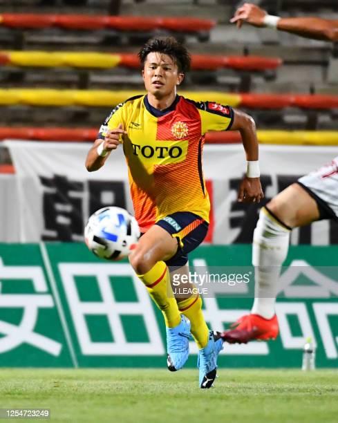Kota MURAMATSU of Giravanz Kitakyushu in action during the J.League Meiji Yasuda J2 match between Giravanz Kitakyushu and FC Ryukyu at Mikuni World...