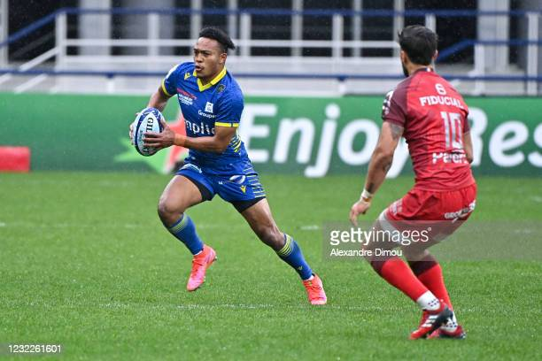 Kotaro MATSUSHIMA of Clermont during the Quarter Final Champions Cup match between Clermont and Toulouse at Parc des Sports Marcel Michelin on April...