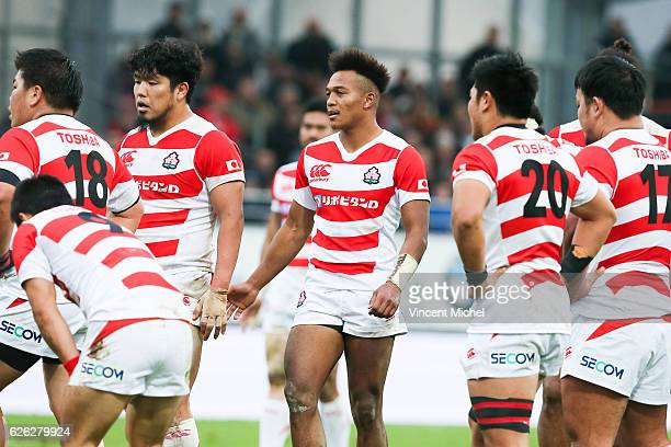 Kotaro Matsushima of Japan during the Test match between Fiji and Japan at Stade de la Rabine on November 26 2016 in Vannes France