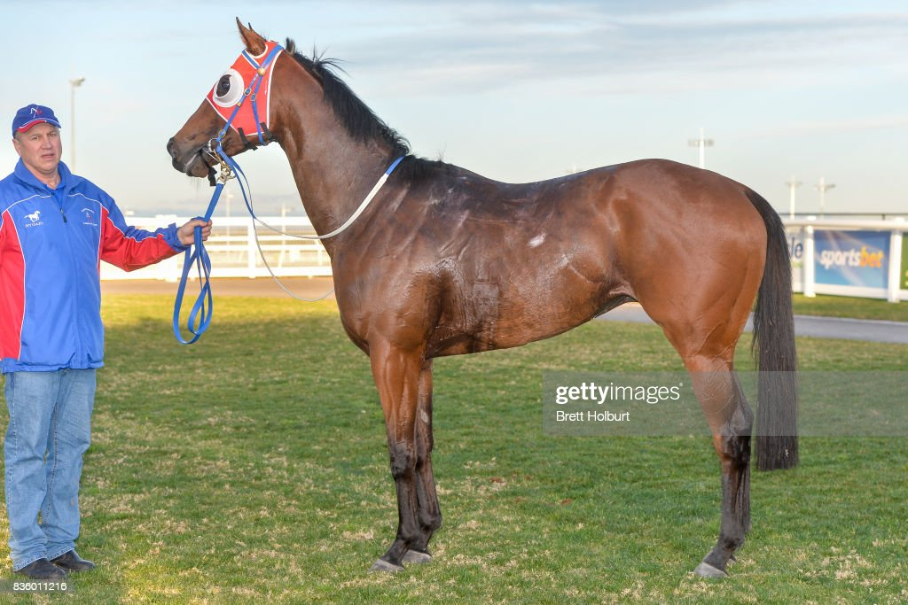 Kotinos after winning Sportsbet BM58 Handicap at Racing.com Park Synthetic Racecourse on August 20, 2017 in Pakenham, Australia.