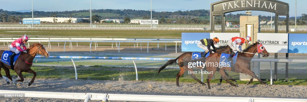 Kotinos ridden by Noel Callow wins the Sportsbet BM58 Handicap at Racing.com Park Synthetic Racecourse on August 20, 2017 in Pakenham, Australia.
