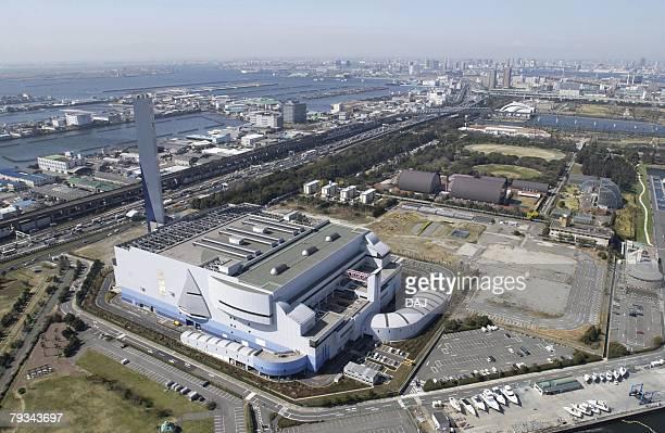 Koto Industrial Area, Aerial View, Pan Focus