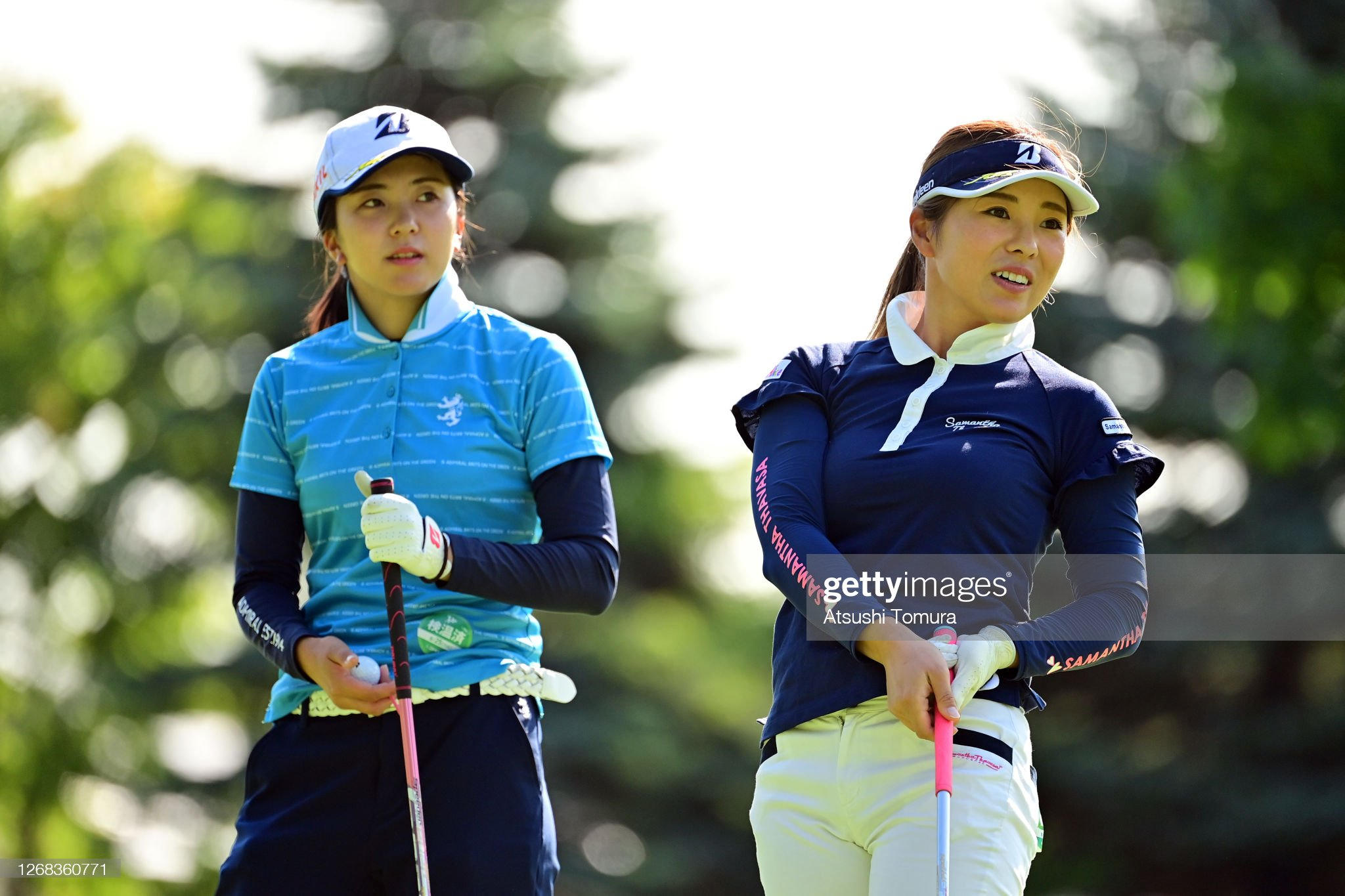 https://media.gettyimages.com/photos/kotone-hori-and-natsuka-hori-of-japan-are-seen-on-the-1st-tee-during-picture-id1268360771?s=2048x2048