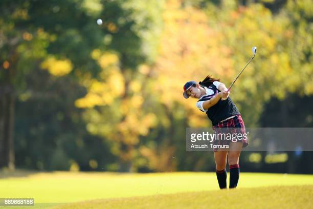 Kotone Hori of Japan hits her second shot on the 6th hole during the first round of the TOTO Japan Classics 2017 at the Taiheiyo Club Minori Course...