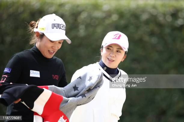 Kotone Hori on the 2nd hole during the second round of the TPoint x ENEOS Golf Tournament at Ibaraki Kokusai Golf Club on March 23 2019 in Ibaraki...