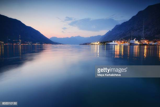 Kotor bay after the sunset