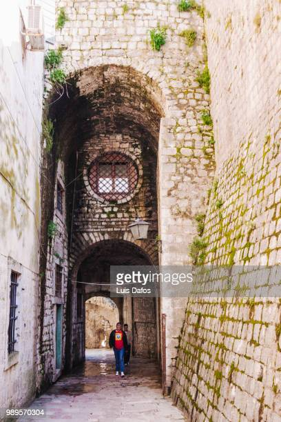 kotor gurdic gate - dafos stock photos and pictures