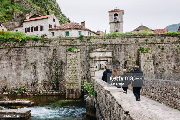 kotor north gate - dafos stock photos and pictures