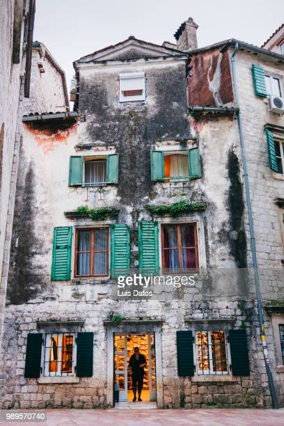 kotor old town architecture - dafos stock photos and pictures