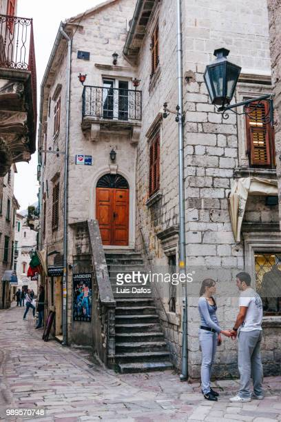kotor old town - dafos stock photos and pictures