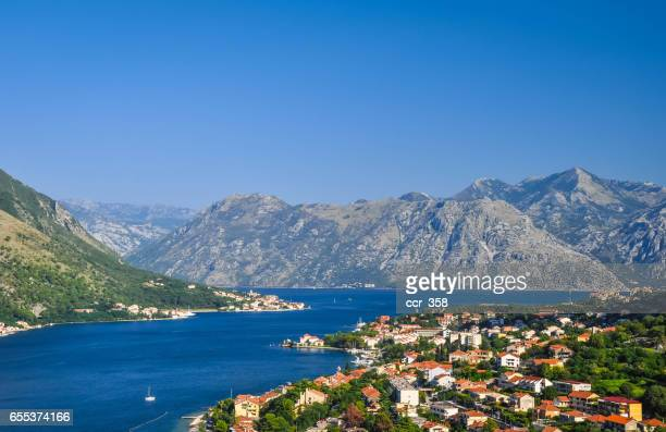 kotor - kotor bay stock pictures, royalty-free photos & images
