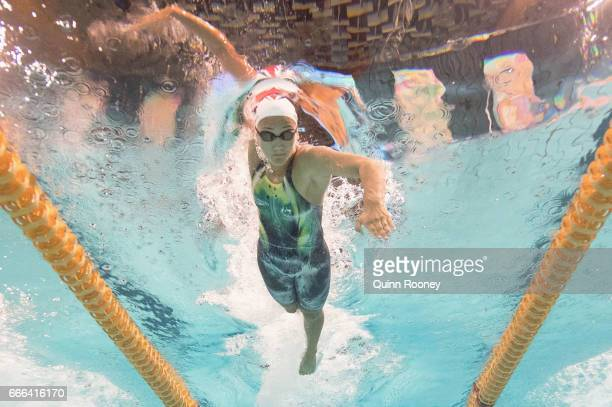 Kotuku Ngawati of Australia competes in the Women's 100m Freestyle during the 2017 Australian Swimming Championships at the Sleeman Sports Complex on...