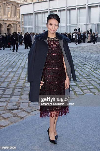 Kou Shibasaki attends the Louis Vuitton show as part of the Paris Fashion Week Womenswear Fall/Winter 20142015 in Paris