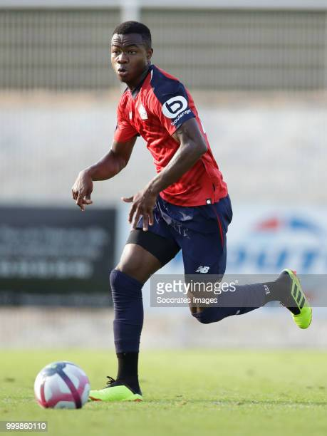 Kouadio Yves Dabila of Lille during the Club Friendly match between Lille v Reims at the Stade Paul Debresie on July 14 2018 in Saint Quentin France
