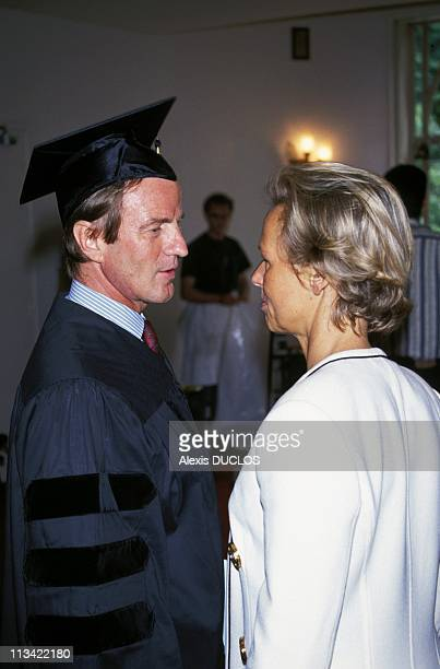 Kouchner B And S Wiesenthal Honoris Causa From The American University On May 26th 1993
