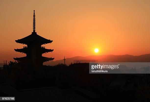 Koudaiji with sunset