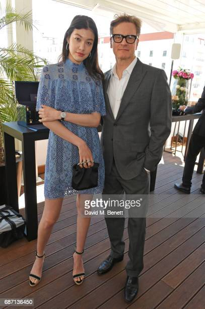 Kouka Webb and Colin Firth attend a private lunch hosted by Colin Livia Firth and Caroline Scheufele celebrating Chopard and the Journey to...