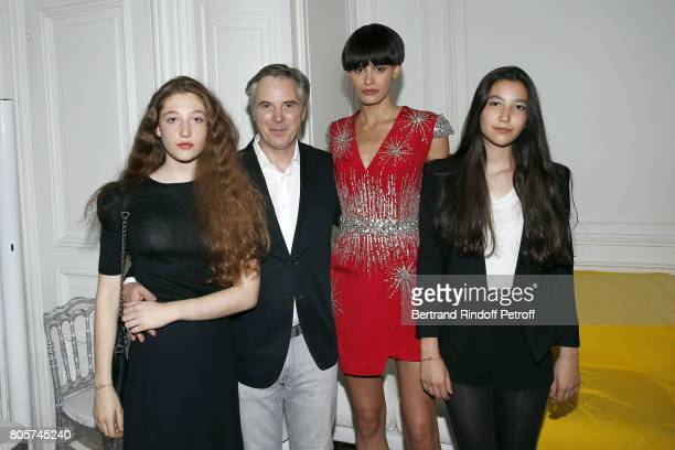 Koukla Lapidus Designer Olivier Lapidus Model Alisar Ailabouni and Milla Lapidus attend The Launch of Olivier Lapidus eCouture on July 1 2017 in...