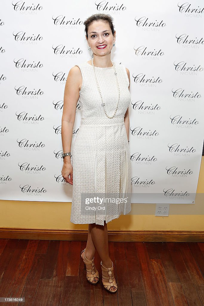 Koula Sophianou, Consul General of the Republic of Cyprus in New York, attends the Christo Men NYC Press Preview at Christo Fifth Ave on July 15, 2013 in New York City.
