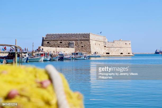 Koules Fortress in the Venetian Harbor of Heraklion, Crete